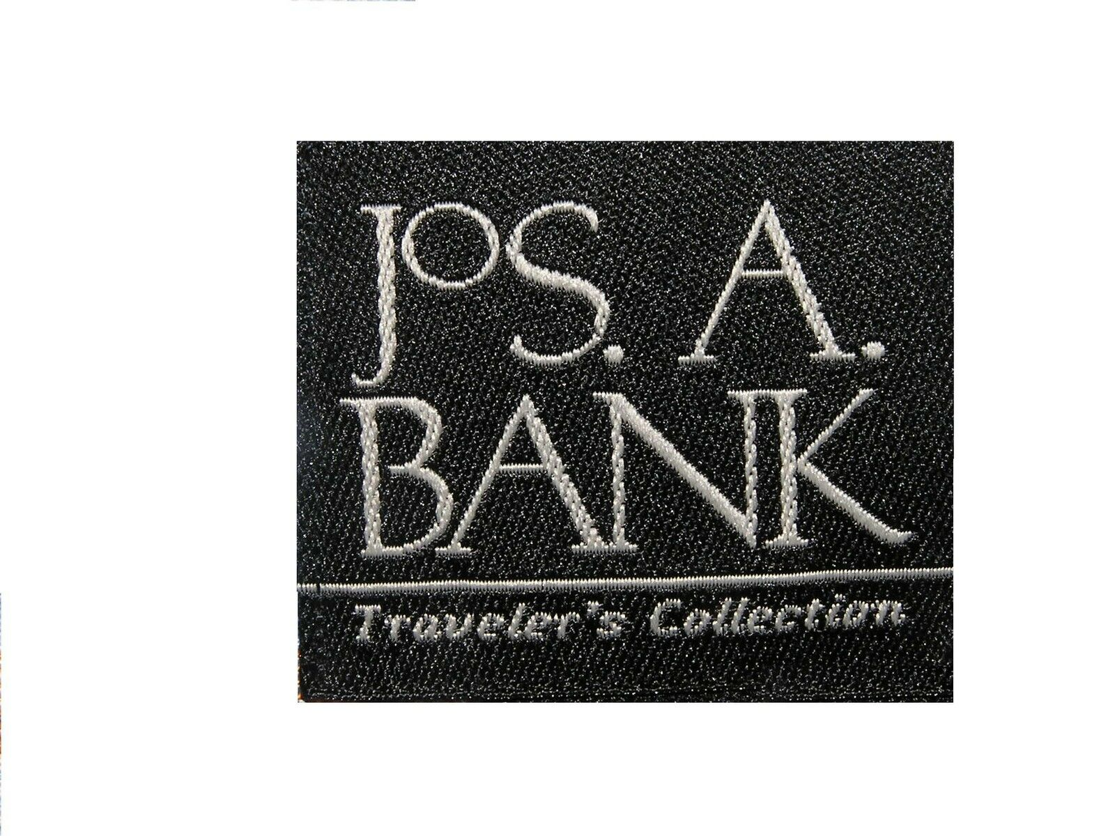 795 new Jos A Traveler Bank Traveler A solid dark  grigio suit 37 R 31 W Regular fit pleated 3fc0ca