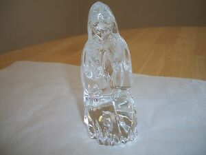 Waterford Crystal ORIGINAL NATIVITY KNEELING MARY FIGURINE MINT NO BOX