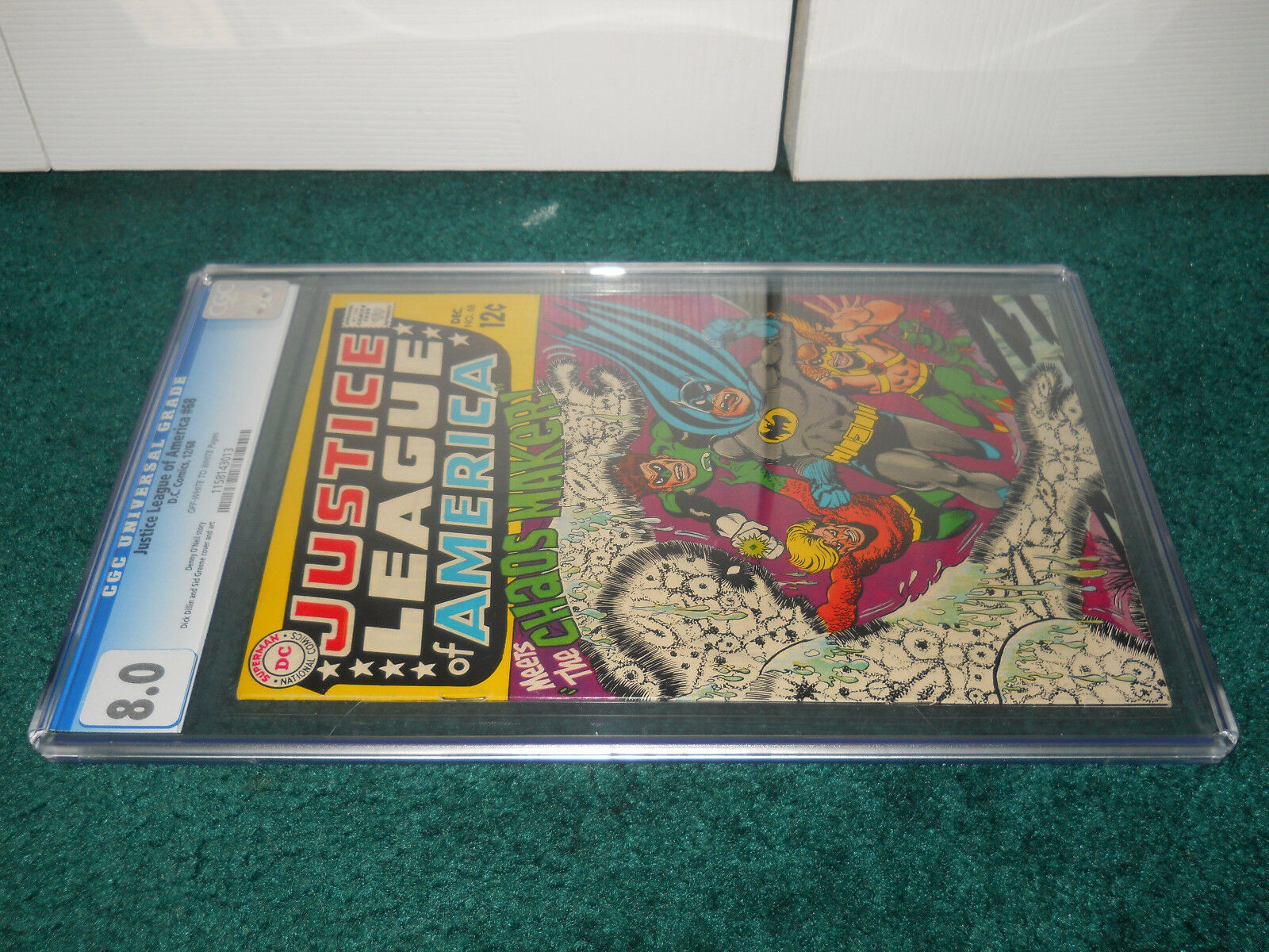 Justice League Of America  68 CGC 8.0 Universal Universal Universal OW W Pages DC Comics 4bc47f