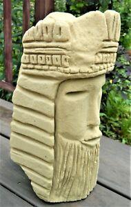 MR-IMAGINATION-Chicago-Afro-Am-Folk-Visionary-DREAMING-KING-Sandstone-Carving