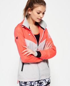New-Womens-Superdry-Sport-Stormbreaker-Jacket-Shocking-Red