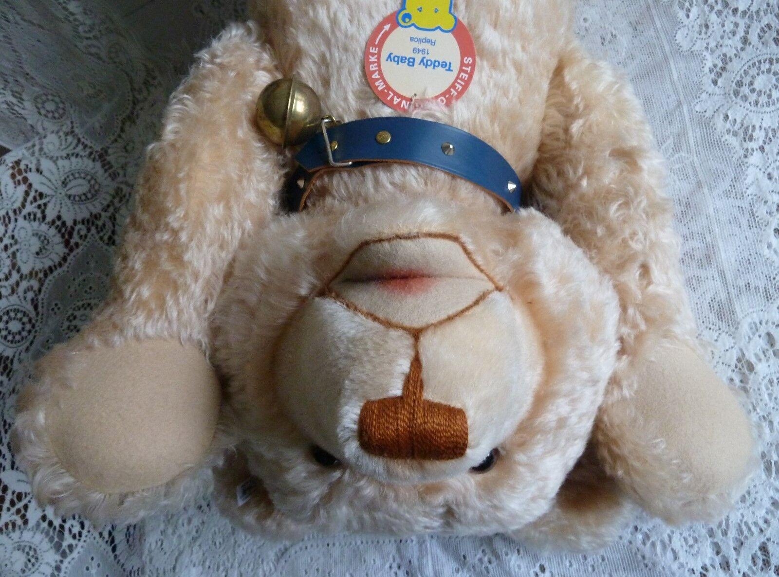 Steiff Teddy Baby 1949 stattliche 75 cm Teddybär Bär Halsband mit 2 Steiffknöpfe
