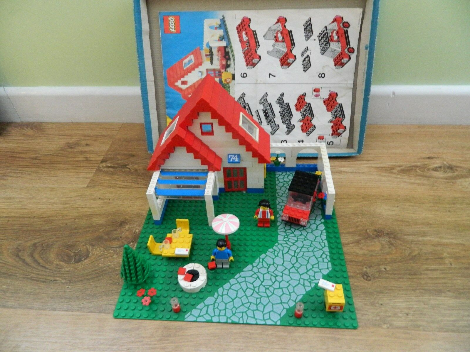 Lego Town – 6374 Holiday Home – Instructions - Complete – Vintage Set - 1983