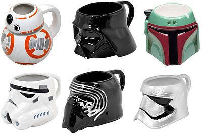 Star Wars: Shaped Ceramic Mug - New Official In Box Kylo / Darth / Phasma / BB-8