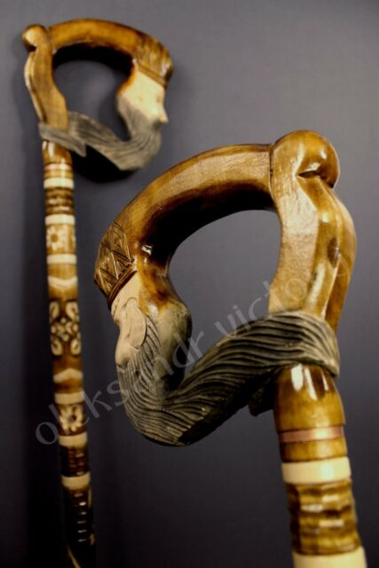 PANTHER WOODCARVED ART CANES WALKING STICK WOODEN UNIQUE HANDMADE CANE HIKING