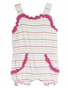 b7fca0262 Kickee Pants Sweetie Pie Romper Beach Stripe baby infant girl size 3 ...