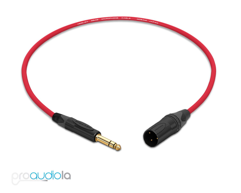 Mogami 2549 Cable Neutrik Gold 1 4 Quot Trs Xlr M Red 2