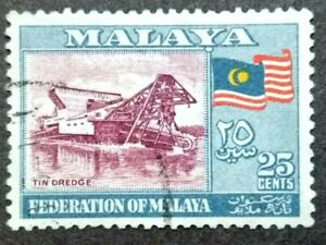 1957-Federation-Of-Malaya-General-Issue-25c-1v-Used-1