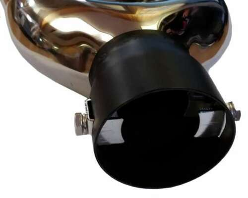 Seat Ibiza 6.35/'/'//170MM TWIN EXHAUST TIP TAIL PIPE PIECE STAINLESS STEEL CLIP ON