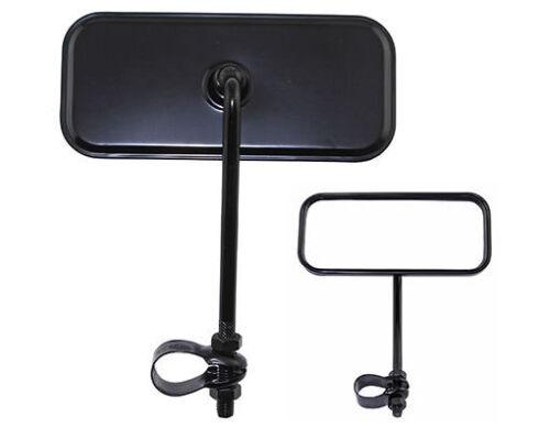 Noir Rectangle Vue Arrière Vélo Miroir Cruiser Réflecteur Lowrider vélo. Nouveau