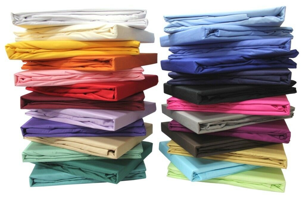 All Sizes Duvet Set + Fitted Sheet Solid Choose colors & Sizes 1000 TC