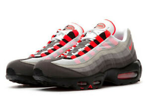 Details about Nike Air Max 95 OG White Solar Red Granite Dust Size 12 AT2865 100 NEW