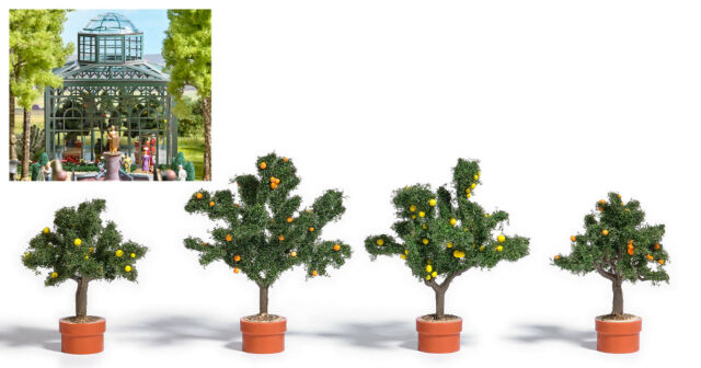 Busch 6619 H0 Zitrusbäume In Pflanzkübel 4x | eBay