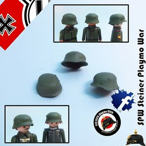 1x-CASCO-ALEMAN-1939-WORLD-WAR-2-GUERRA-MUNDIAL-HELMET-PLAYMOBIL-SOLDADO-CUSTOM