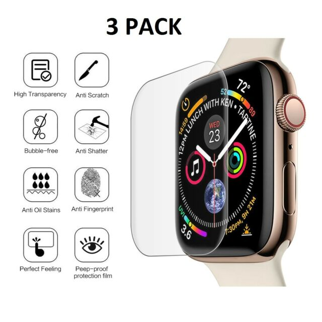new styles fc63d d85c4 3 X Tempered Glass Screen Protector for Apple Watch Series 4 (44mm)