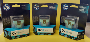 3X-HP-Photosmart-02-Light-Cyan-Ink-Cartridges-C8774WN-NEW-SEALED-Free-Shipping