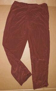 NWT Spandex Lycra Chocolate Brown Capri Pants ladies szs Dance ...