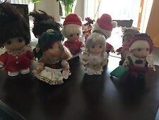 Precious Moments 8 Christmas Mini Dolls