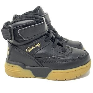 Patrick-Ewing-Hi-Top-Sneakers-Shoes-Toddler-Size-7-Black-Gold-7EW90124-046