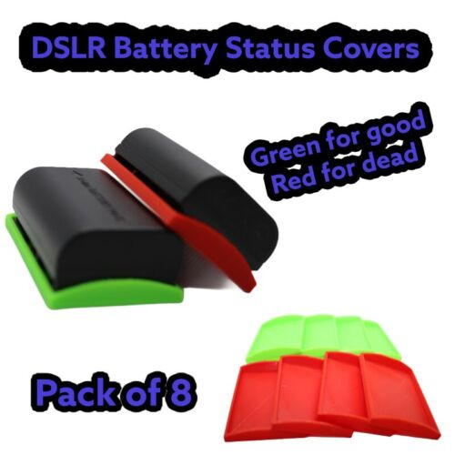 Rojo Y Verde paquete de 8 Cubierta de DSLR batería de Estado