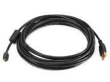 Monoprice 15ft USB 2.0 A Male to Micro 5pin Male 28/24AWG Cable w/ Ferrite Core