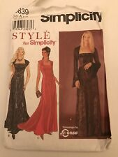 928e824e3a3 Evening Gown Sewing Pattern 8839 Uncut Dress Medieval Sizes 8 - 18  Simplicity