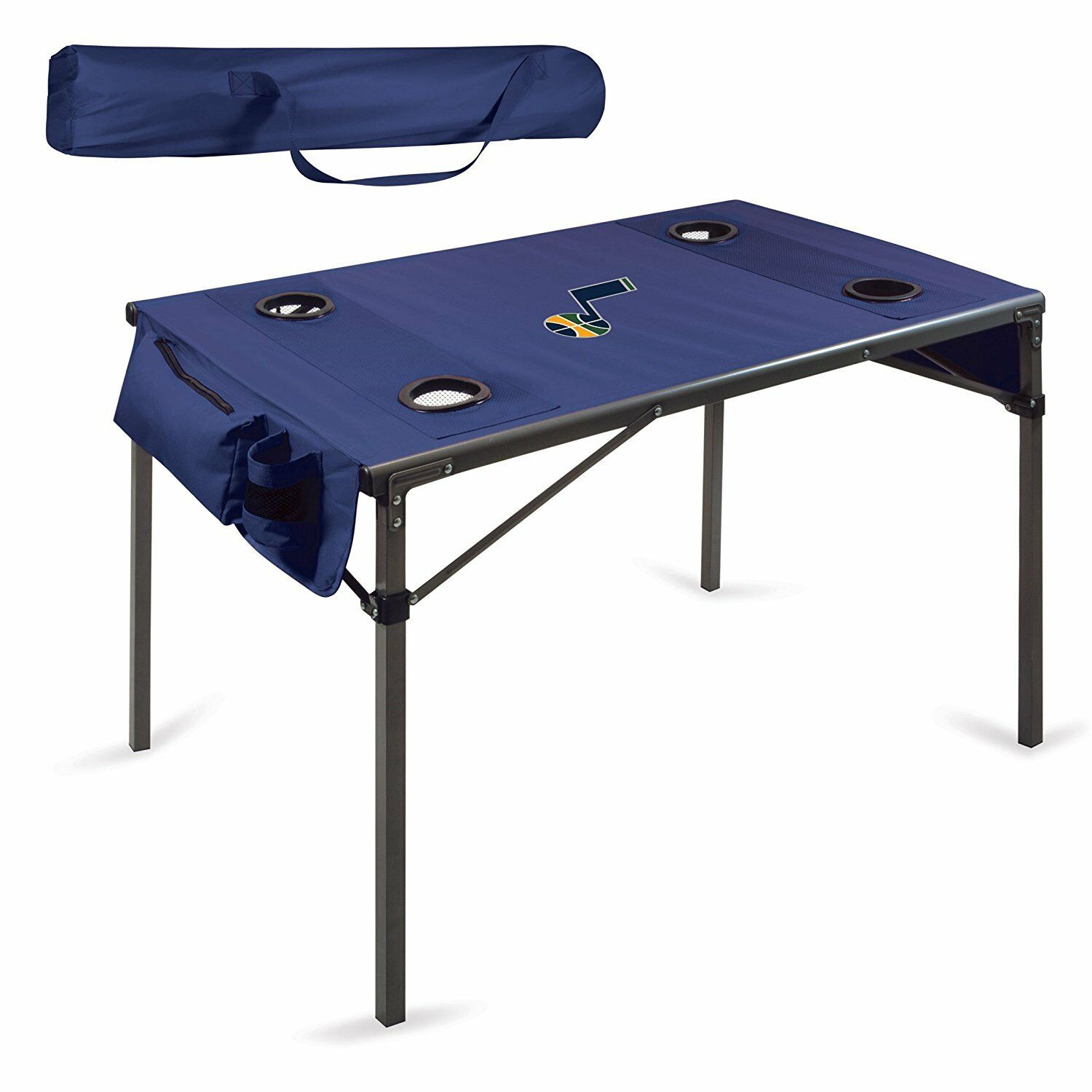 NEW NBA Utah Jazz Portable Soft Top Sports Travel Table, color  Navy