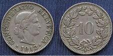 MONETA COIN MONNAIE HELVETIA SUISSE SWITZERLAND SVIZZERA - 10 RAPPEN 1912 -