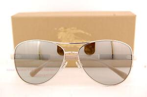 d5b43149ec74 Brand New Burberry Sunglasses BE 3080 1005 6V Silver Silver Mirror ...