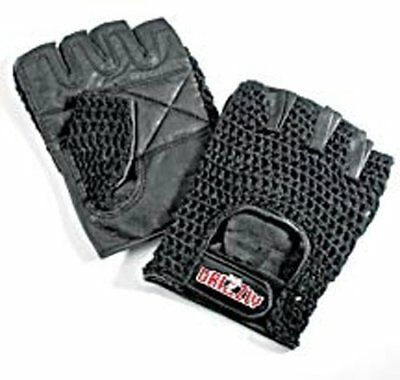 Grizzly Fitness Bear Paw Mesh Training Gloves Lifting For Gym Black