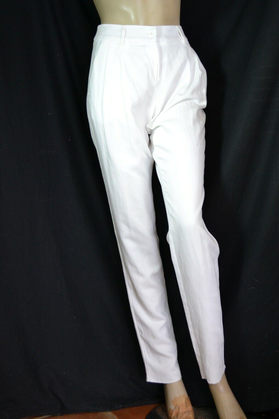 MAX MARA Damenhose gerade Hose Hose Hose trousers pantalon 34 XS  neu NEW weiß   Weiß edd2e8