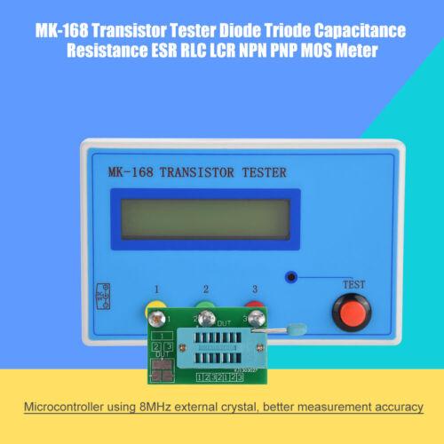 MK-168 Transistor Diode Capacitance ESR Meter Resistance Inductance Tester
