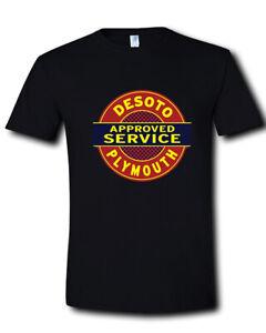 DeSoto-Service-Plymouth-Sign-Logo-Chrysler-Car-Black-T-Shirt-Size-S-M-L-XL-2XL