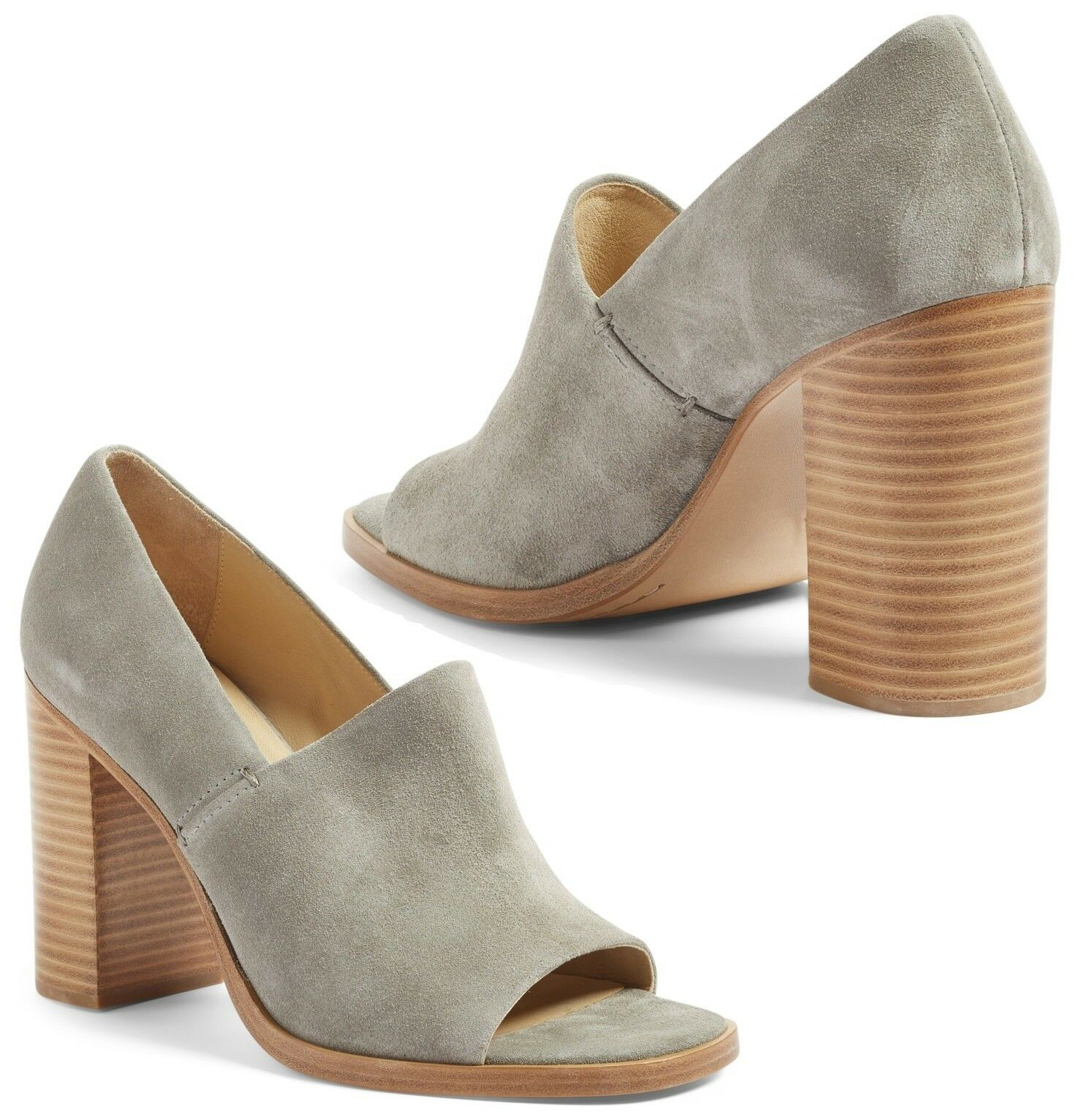NIB  495 Rag & Bone Myra Suede Open Toe Pump