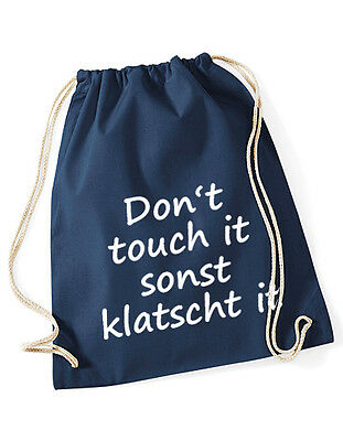 Hipster Beutel Tasche Baumwolle Gymbag Turnbeutel - Don't touch it