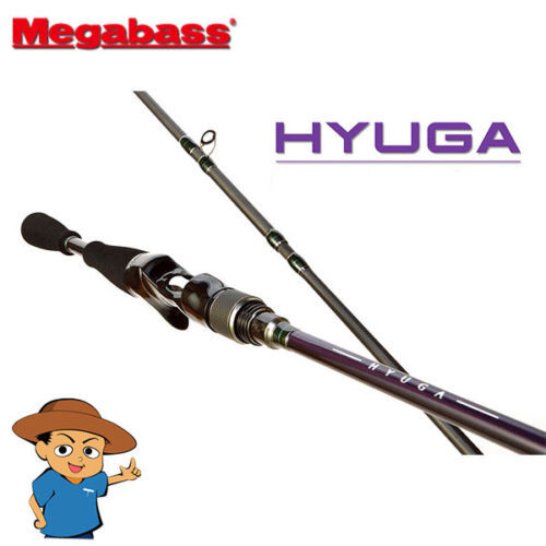 Megabass HYUGA 72M Medium 7'2  bass fishing baitcasting rod pole from Japan