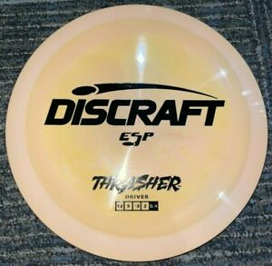 DISCRAFT ESP THRASHER SWIRLY DISC GOLF DRIVER 170-2G ORANGE / BLACK @ LSDISCS
