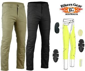 Australian-Bikers-Gear-Motorcycle-Trousers-Chino-Stretch-Jeans-Lined-with-Kevlar
