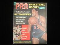 1968 Dell Pro Basketball & Hockey Magazine – Chamberlain & Hull Cover