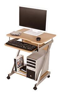 computertisch computerwagen pc tisch rollen buche dekor preisknaller 4087555741882 ebay. Black Bedroom Furniture Sets. Home Design Ideas