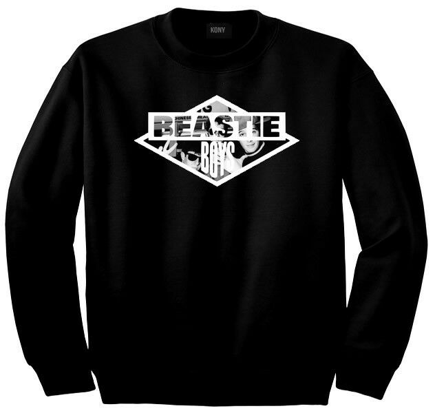 Kings Of NY Beastie Music Hiphop Boys Long Sleeve Graphic 50/50 Crew Sweatshirt