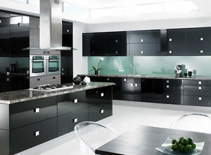 Premier Gloss Kitchen Units Cupboard Doors Draws Cover Up