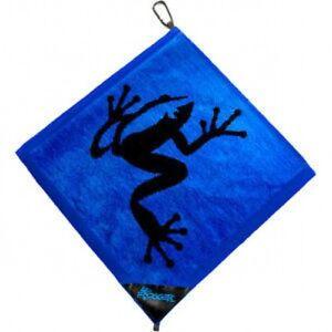 Autentico-Frogger-anfibio-Golf-Toalla-Azul-Gratis-Champ-Golf-Tees
