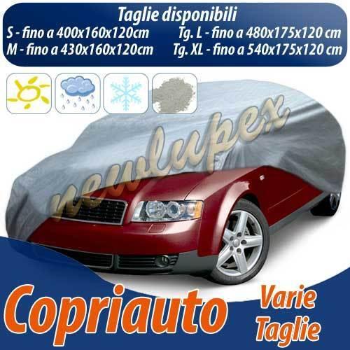 L 480x175x120cm TELO COPRIAUTO IMPERMEABILE CAPPOTTA AUTO