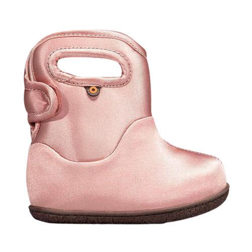 GIRLS BABY BOGS METALLIC PINK WATERPROOF INSULATED WELLIES WASHABLE BOOTS 72611