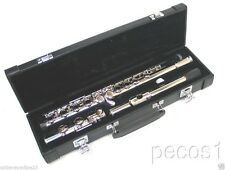 NEW 2019 MODEL CONCERT INTERMEDIATE SILVER BAND FLUTE-WITH YAMAHA PADS