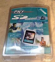 Pny Technologies Sd Card 256 Mb P-sd256-rf For Cameras,mp3's,pda's Sealed