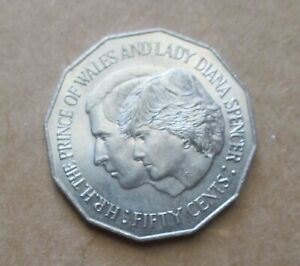 AUSTRALIAN-1981-ROYAL-WEDDING-50-CENT-COIN