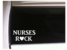 "Nurses Rock Car Decal Vinyl Sticker 6"" *K44 Nursing Medical Scrubs Doctor"