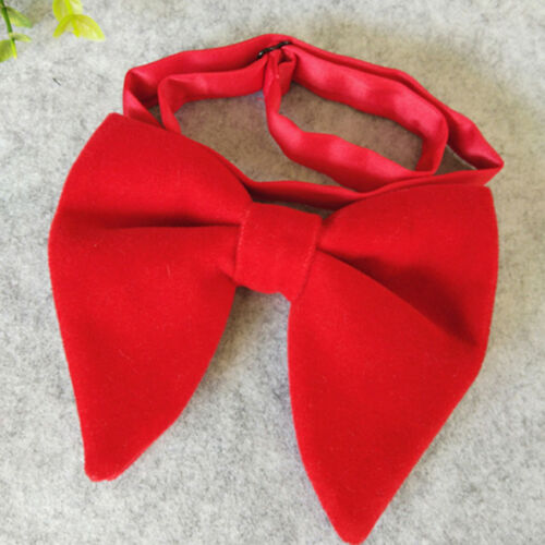 Solid Big Bowties Groom Mens Soft Cravat Thick Butterfly Male Wedding Shan